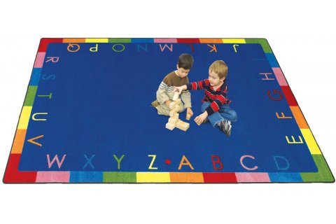 Rainbow Alphabet Classroom Rugs