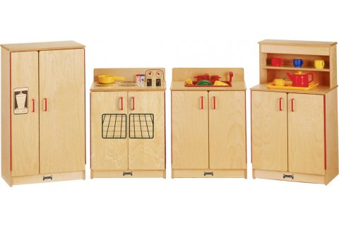 Natural Birch Wooden Play Kitchen by Jonti-Craft
