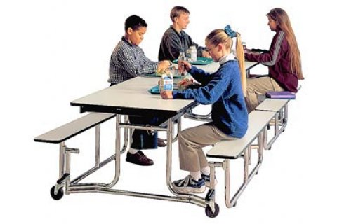 Uniframe Cafeteria Tables with Benches