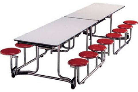 Uniframe Cafeteria Tables with Stools