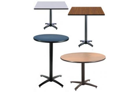Cafeteria Tables with Arched Bases