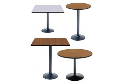Cafeteria Tables with Round Bases