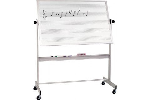 Reversible Porcelain Music Whiteboards Alum Frame