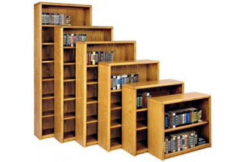 Contemporary Oak Veneer Bookcases