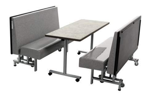 AmTab Mobile Folding Booth Seating and Tables