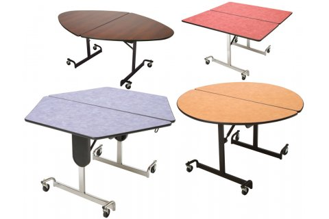 Mitchell Fold-N-Roll Cafeteria Tables