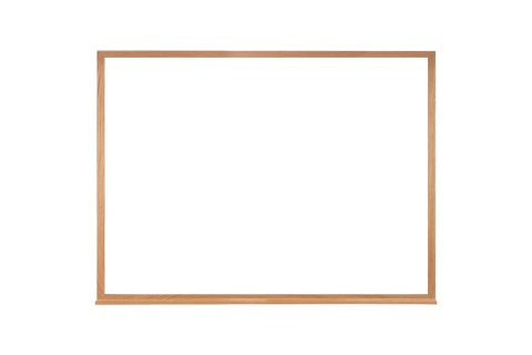 Melamine Whiteboard with Wood Frame