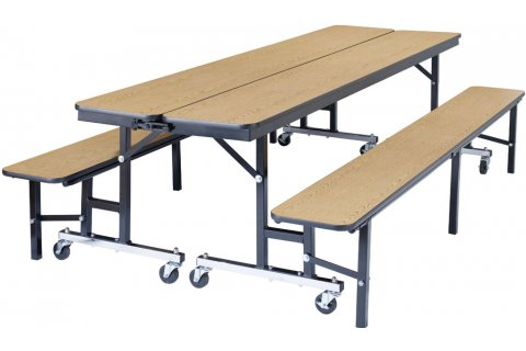 nps convertible bench cafeteria tables, cafeteria tables