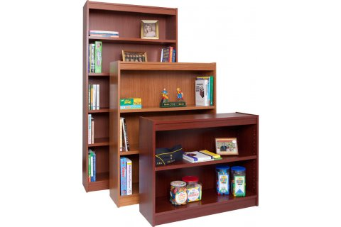 Laminate Bookcases with Steel-Reinforced Shelves by Norsons
