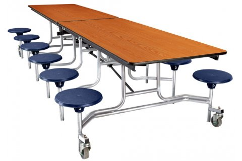 NPS Cafeteria Tables with Stools - Chrome Frame