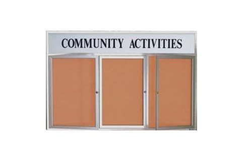 Weather-resistant Enclosed Cork Boards with Header