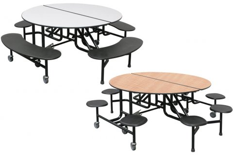Palmer Hamilton Round Mobile Cafeteria Tables Cafeteria Tables