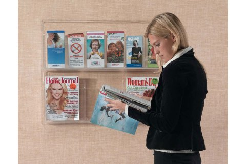 Clear Vu Combo Pamphlet and Magazine Displays
