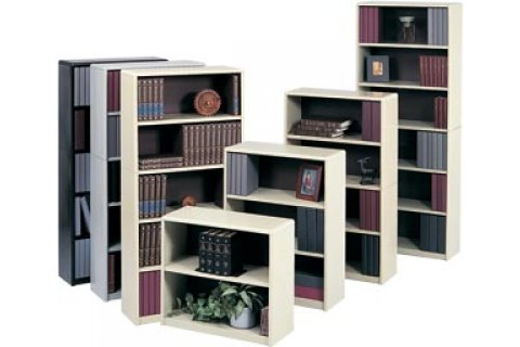 Radius Edge Steel Bookcases by Safco