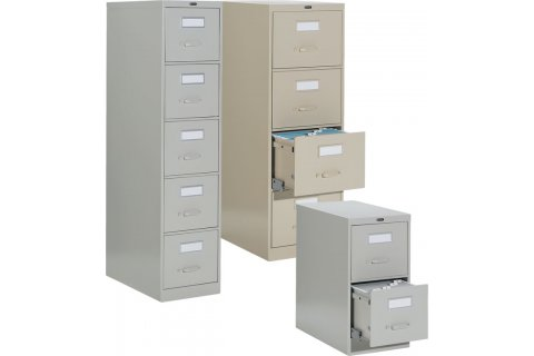 Deluxe Vertical Files with Built-in Lock