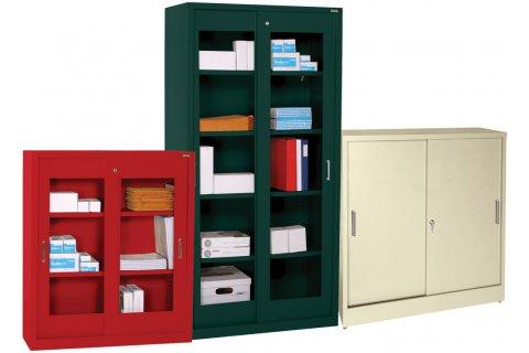 Sliding Door Steel Storage Cabinets Storage Cabinets