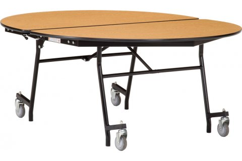 NPS Mobile Folding Oval Cafeteria Tables