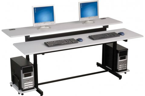 Split-Level Computer Tables by Balt