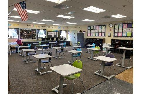 Academia Surge Standing Student Desks