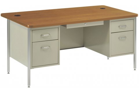 Rounded-Corner Teacher Desks