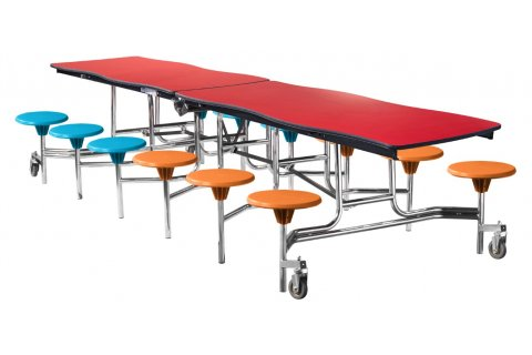 Swerve Mobile Cafeteria Tables by NPS