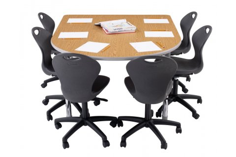 Dura Series Chad Collaborative Classroom Tables by Academia