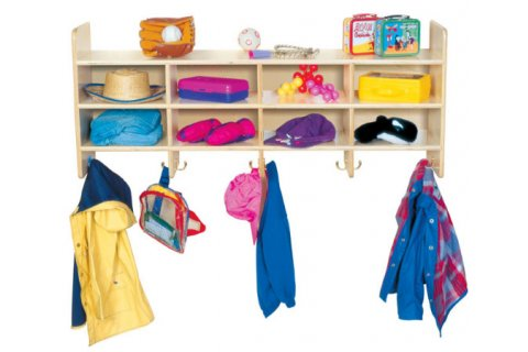 Preschool Wood Wall Lockers
