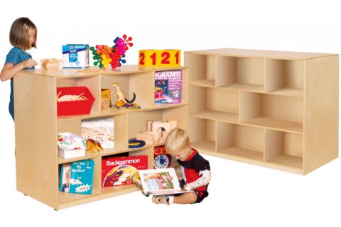 Wooden Mobile Double Sided Storage