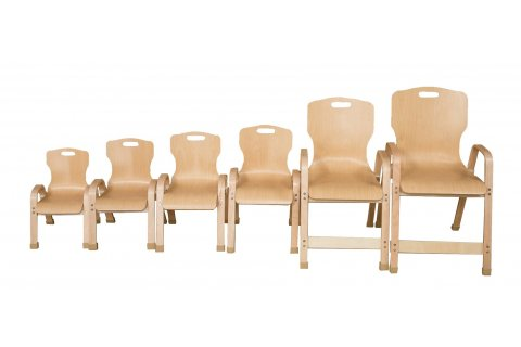 Bentwood Stackable School Chairs by Wood Designs