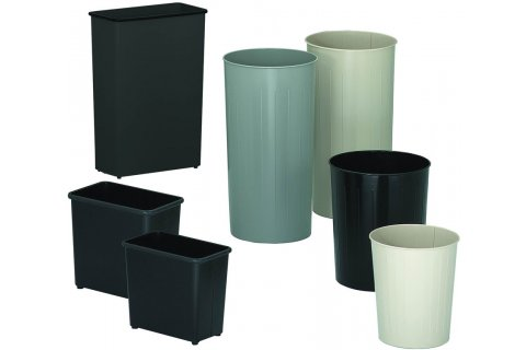 Witt Industries Steel Trash Cans