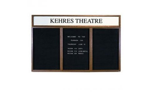 Wood Framed Enclosed Letter Boards