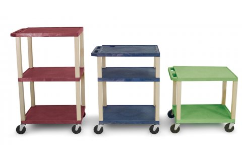 Colored Tuffy AV Open Shelf Carts