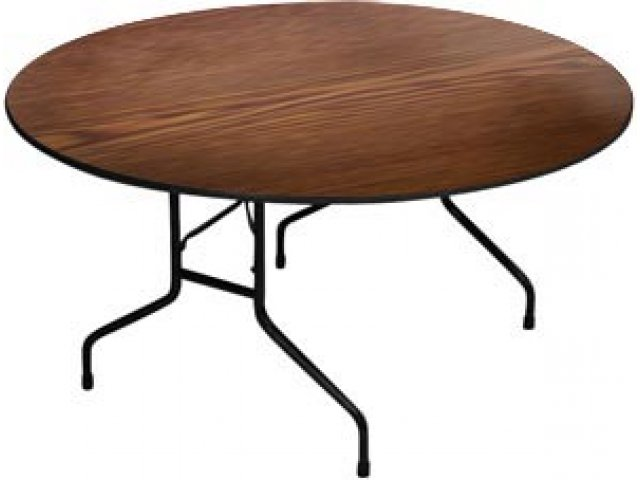 High Pressure Laminate Top Round Folding Table 60