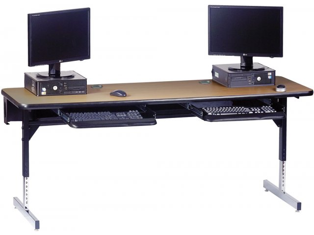 8700 Series Adjustable Ada Computer Table 72x24