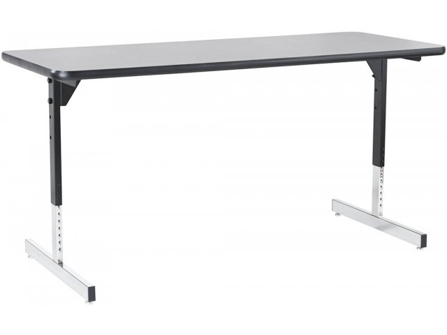 Series Adjustable Height TLeg Training Table X Classroom - Adjustable training table