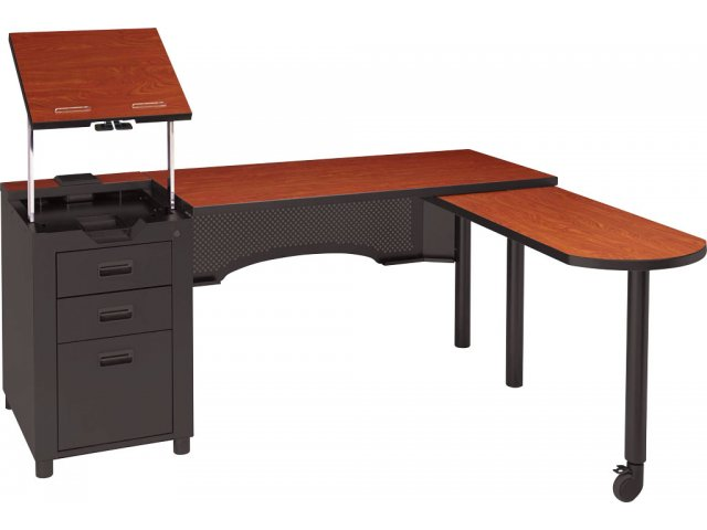 Deluxe Nate Teachers Desk With Integral Pedestal Acd 2468