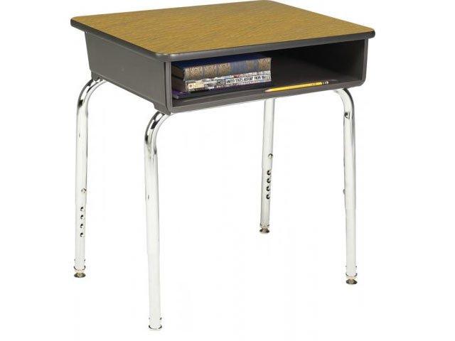 Adjustable Height Open Front School Desk Laminate Top Acd 1100 Student Desks