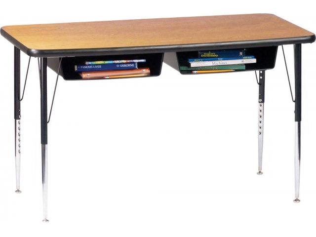 Open Front Double School Desk Laminate Top