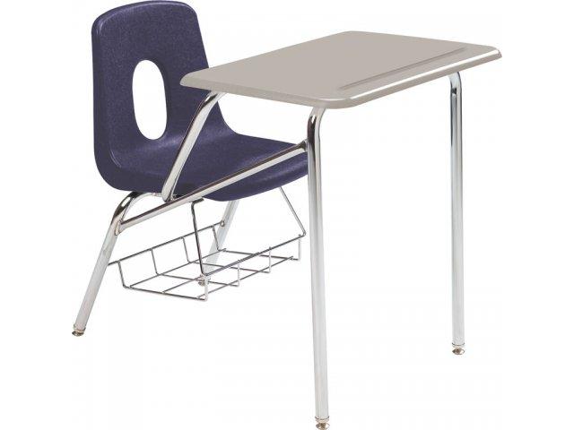 Poly Student Chair Desk Hard Plastic Top 16 H Student Chair Desks