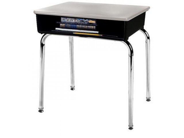 Open Front School Desk Hard Plastic Top Acf 1100hp