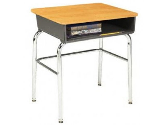school desk. Open Front School Desk - WoodStone Top, U Brace Hertz Furniture