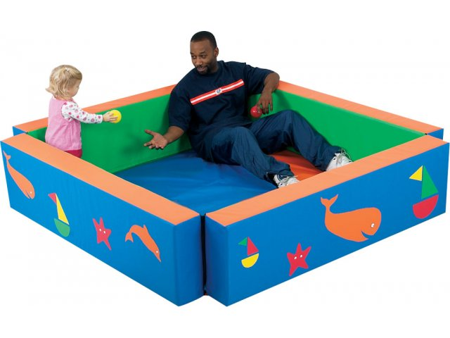Harbor Hollow Infant Toddler Soft Play Yard With Mat Act