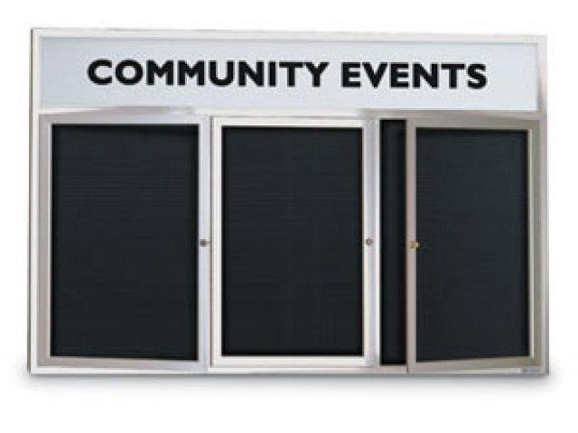 Enclosed Letterboard - Header 3 Door