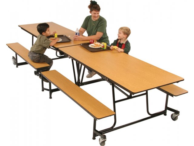 Mobile Cafeteria Table   Dyna Rock Edge (12u0027)