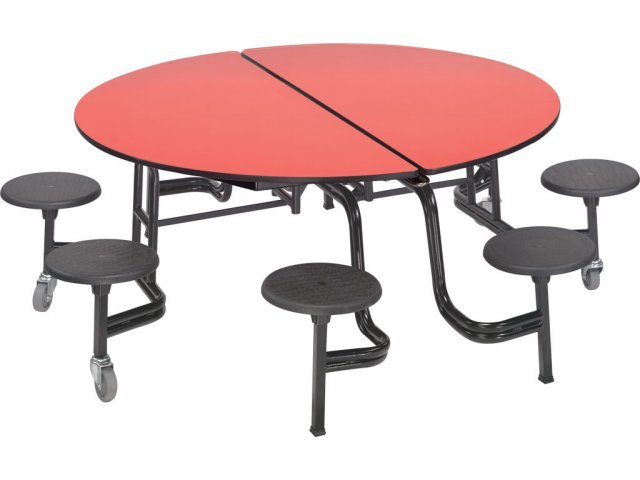 round school lunch table. Round Cafeteria Table Chrome Dyna Edge 8 Stools Ams 608dch School Lunch M