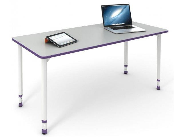 "A & D Adjustable Height ADA pliant Student Desk 24""x48"