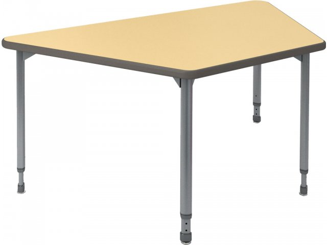 A d adjustable trapezoid activity table 60x30 classroom for Trapezoid table
