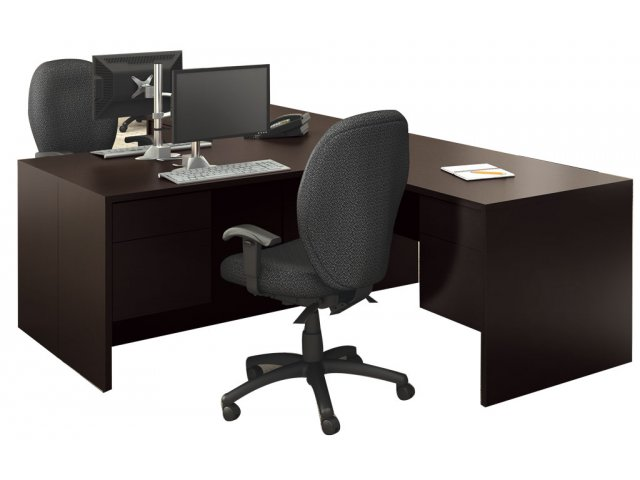official photos 7ff41 0c969 Genoa L-Shaped Office Desk - Right Return