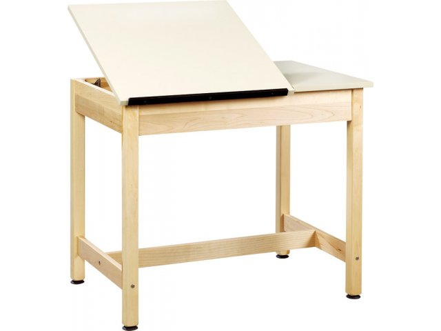 Drawing Table 2 Piece Top Large Drawer