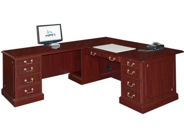 Bedford L Shaped Office Desk L Return Large Bed 3048l